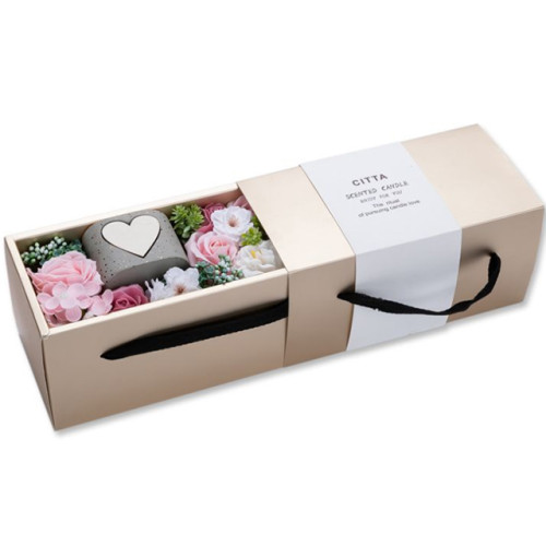 Valentine's day Christmas gifts soy wax scented candle in glass jar with luxury gift box
