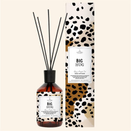 Interesting pattern packaging box environmental protection retro glass bottle reed diffuser with natural essential oil