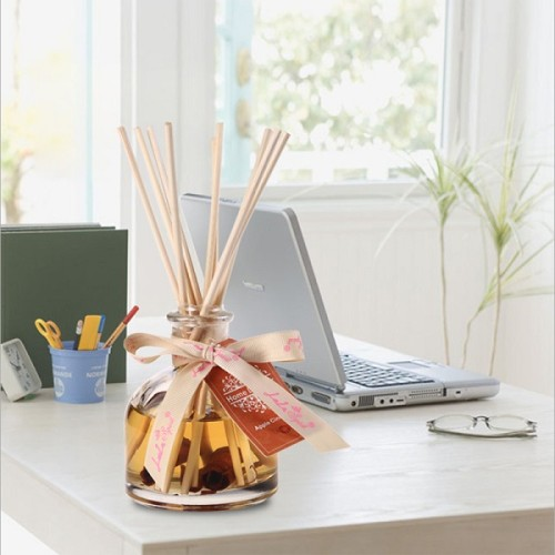 China supplier natural aroma essence oil glass bottle reed diffusers with rose rattan stick wholesale