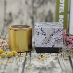 370g three wicks natural soy wax gift scented candle
