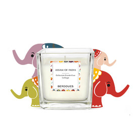 Custom different types decal soy wax scented square glass candle jars with luxury packing