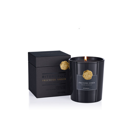 Wholesale wedding Custom Scented candle holder Luxury glass candle jar with lid