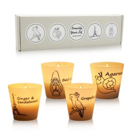 Top grade personalized scented candle gift set glass candles