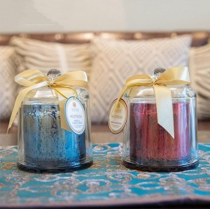 Creative scented soy candle in domed jar with lid Luxury candle