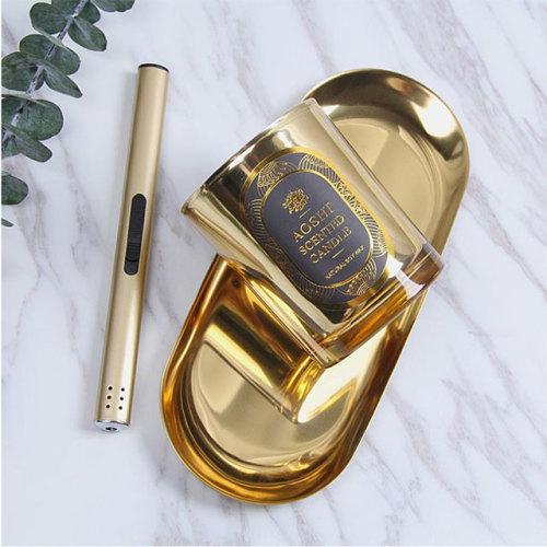 wholesale metal lid soy wax custom scented luxury glass jar candle