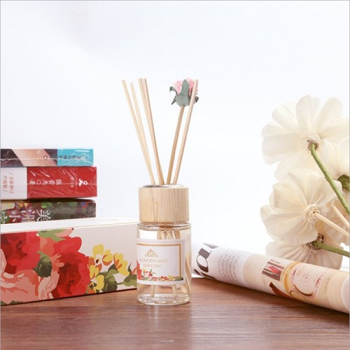 French import 30ml essential oil luxury rose dry flower cover reed diffuser with luxury package box
