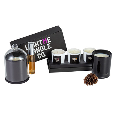 Wholesale three scented candle in one gift box