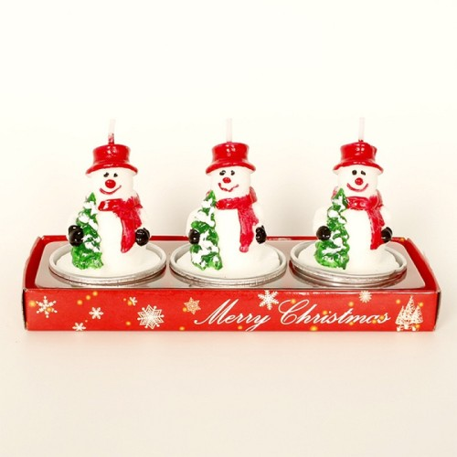 Lovely Christmas birthday creative paraffin wax scented pillar candle custom tin candle