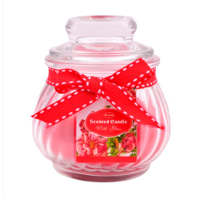 Custom wedding party pumpkin shaped crystal glass candle with lid