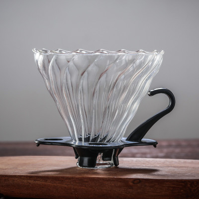 High Borosilicate Glass Coffee Dripper With Handle V60 Glass Dripper