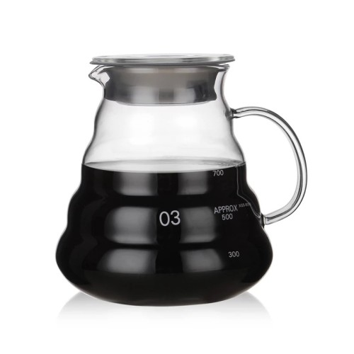 300ml 500ml 700ml 1200ml Heat Resistant Handmade Borosilicate Glass Coffee Pot V60 Coffee Maker