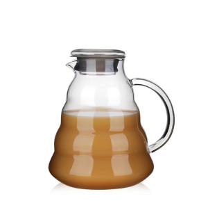 300ml 500ml 700ml 1200ml Heat-proof handmade high borosilicate coffee cloud glass coffee pot