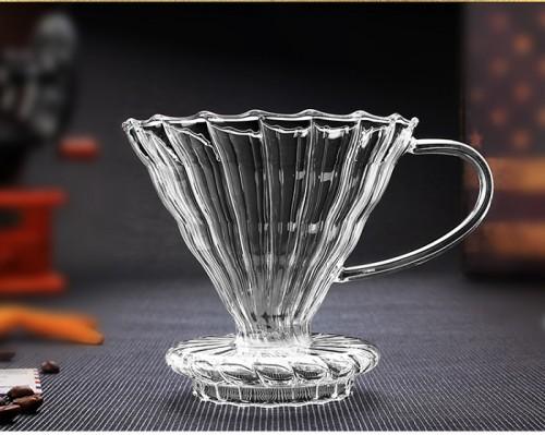 High Borosilicate Glass Coffee Dripper V60 Glass Dripper