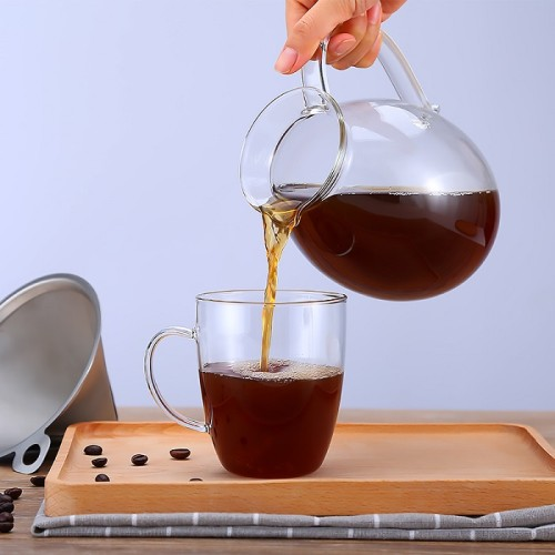 500ml 1000ml Handmade Pyrex Borosilicate Glass Coffee Maker