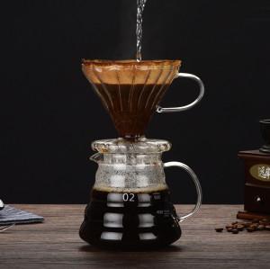 Custom 250ml 360ml 600ml 800ml Handmade Borosilicate Glass Pour Over Cold Brew Coffee Maker With Glass Coffee Dripper
