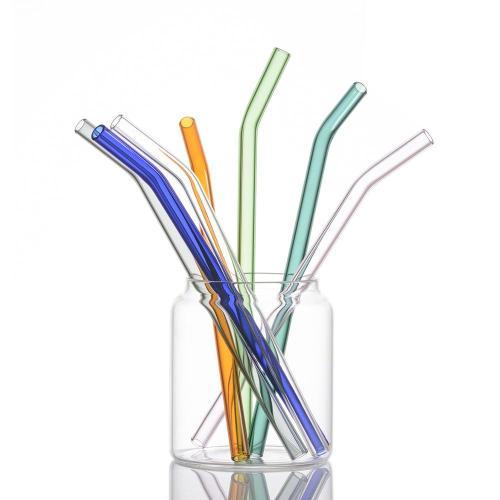 High temperature resistance Borosilicate Straight Glass Straws Colored Glass Straws