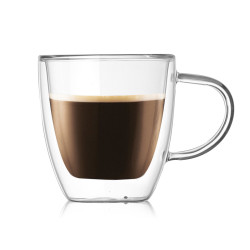 Amazon Hot Selling 160ml Double Wall Insulated Espresso Coffee Glass Mug