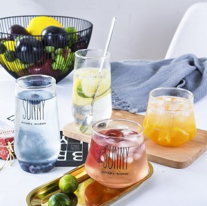 360ml Microwave Glass Big Belly Cup With Glass Handle And Glass Lid