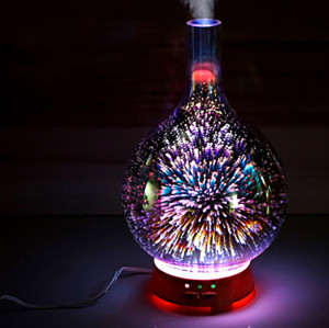 3D color glass electronic aroma diffuser essential oil aromatherapy humidifier aromatherapy sprayer used in the room