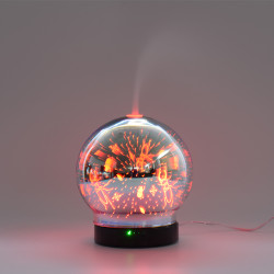 3D Color Glass Electronic Aroma Essential Oil Diffuser Ultrasonic Cool Mist Humidifier