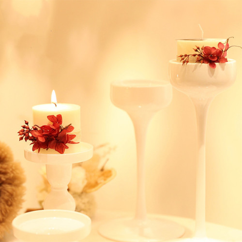 Natural scented candles luxury valentine's day gifts wholesale custom column pillar candle