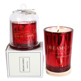 Lovely gift box dome candle natural soy wax home decoration scented candle jar