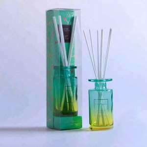 Natural cane aromatherapy essential oil with household transparent multicolored glass bottles