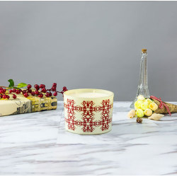 New Christmas Luxury Scented Soy Wax Candle  in Ceramic Jar with Gift Box
