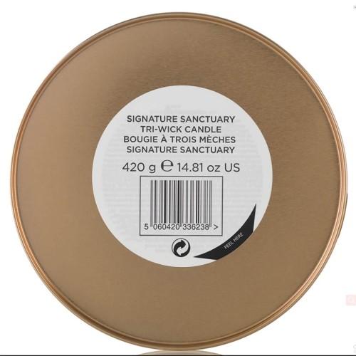 Manufacture custom spa travel metal jar scented candle