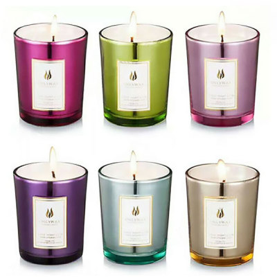 Home Decorate Many Colors Glass Jars Scented Soy Candle