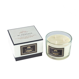 Wholesale Home Three Wicks Luxury Scented Soy Customized Candle in Clear Glass Jar