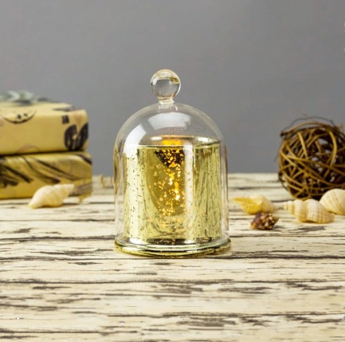 Unique Design Gift Different Size Luxury Scented Soy Golden Domed Candle