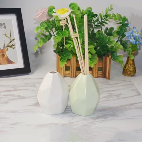 Home Decorative Ceramic Aroma Reed Diffuser with Rattan Sticks