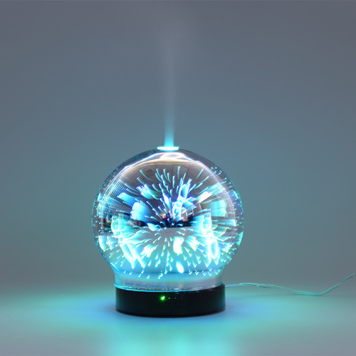 Round Glass Air Aromatherapy Fashionable USB Humidifier Essential Oil Electric diffuser for home
