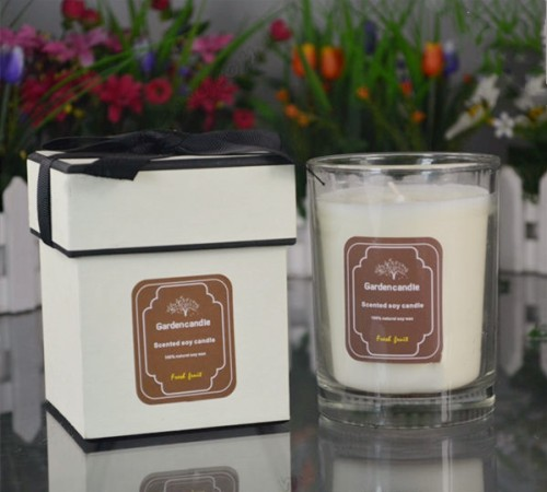 Wholesale Customized Handmade Natural Soy Candle in Glass with Gifts Box