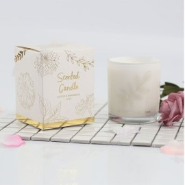 Simple Handmade Scented Soy Wax Candle with Folding Box