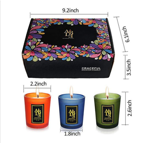 Christmas New year gift colorful scented candle jar frosted glass candle jar