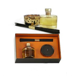 Luxury decorative fragrance high-end reed diffuser set with black sticks