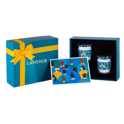 Holiday gift mini scented candles set with colorful packaging