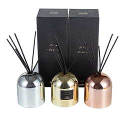 High quality rose gold domed aroma home decorate reed diffuser