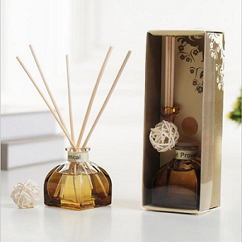 Luxury home decor natural glass bottle essential oil aroma reed diffuser With Rattan Sticks