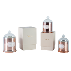 Gift set different size luxury scented soy customized domed candle in glass jar
