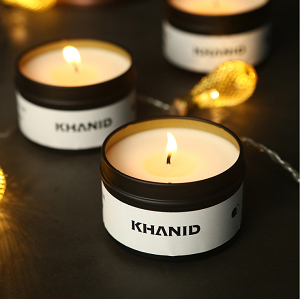 Nordic fashion black scented candle tin with high-grade wedding gift luxury gift candle set