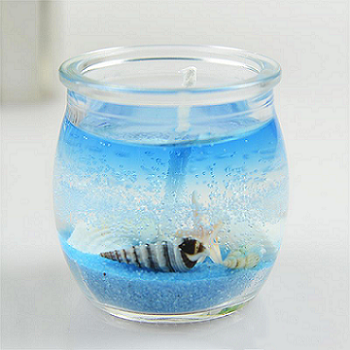 Custom decorative scented jelly candle in glass jar