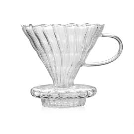 Coffee Dripper V60 Borosilicate Glass 2/4cups for Barista Coffee Brewing Cup Coffee Maker