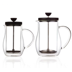 400ml 700ml Heat Resistant Borosilicate Double Wall Pour Over Glass Coffee Pot Coffee Server