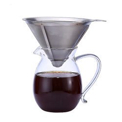 500ml 1000ml Handmade Pyrex Borosilicate Glass Coffee Maker