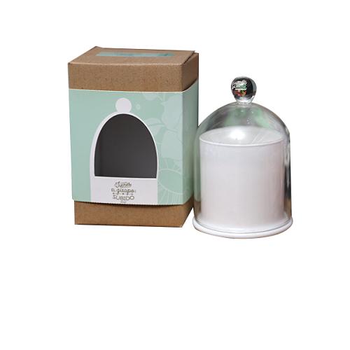 Golden domed scented jar candle for decoration