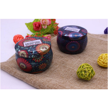 Wholesale home decor colorful soy wax scented tea light candle tin