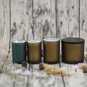 Wholesale Glass Scented Handmade Candle Natural Soy Aroma Candle with lid